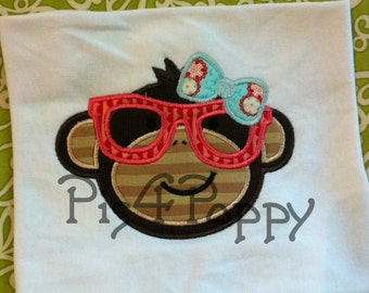 Hipster Nerdy  Monkey Girl instant download