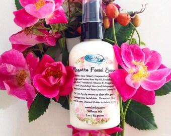 Organic Facial Serum Rose Hip Oil Skincare Vegan Face Lotion Anti Aging Skin Serum Facial Moisturizer Facial Cream Organic Moisturizer, 4 oz