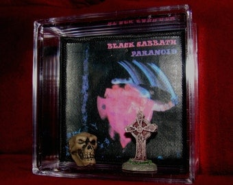 """Black Sabbath """"Paranoid"""" Patch Display..Different but unique for Sabbath Fan! i'd keep it but already Have my own ! :)"""