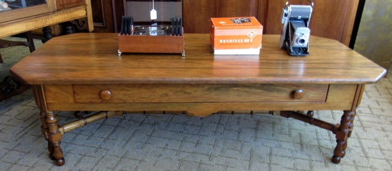 Coffee Table American cherry wood with one drawer