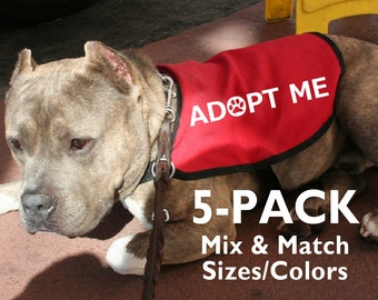 5-Pack Adopt Me Dog Jackets Vests - Mix & Match