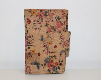 Wallet Cork for Lady - Flowers