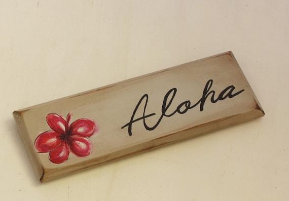 aloha beach wooden sign wall decor hawaii by ...
