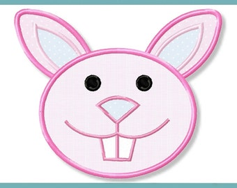 Bunny rabbit application 4 x 4 5 x 7 embroidery file embroidery pattern 2 pattern