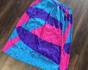 Vintage color block skirt