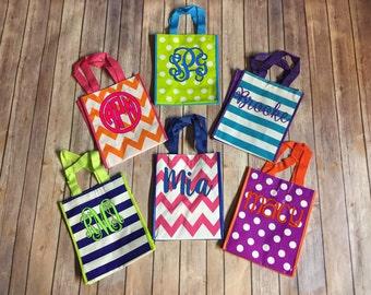 Personalized Small Chevron Gift Tote, Monogrammed Gift Bag, Small Gift Bag, Personalized Gift Tote