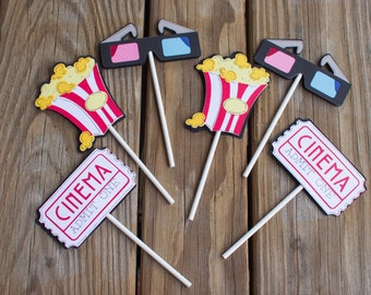 Movie Birthday Cupcake Toppers