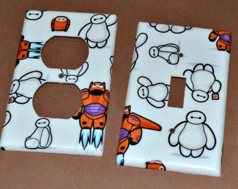 Baymax Big Hero 6  Light Switch Covers Outlet Covers
