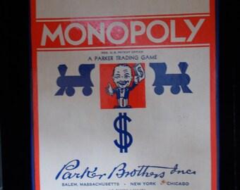 1951 Rare Vintage Monopoly Game , Parker Brothers Inc, Unused.