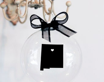 New Mexico Christmas Ornament, Custom, Travel, USA