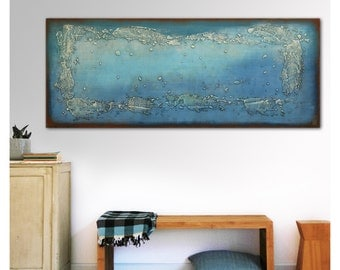 Abstract Painting, Canvas Wall art, Once Turquoise - B9, Original, Landscape, Abstract Painting, Modern Art,Ronald Hunter, walldecor