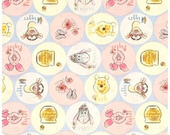 Winnie the Pooh Circles Fitted Crib Sheet