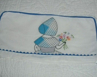 Vintage Southern Belle Daisies 4 Slice Toaster Cover Hand Emb/Applique Unused