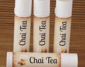 Chai Tea Flavored Lip Balm - Handmade All Natural Lip Balm
