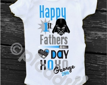Star Wars Fathers DAY Onesie Baby Boy 1st Father's Day Gift from Baby Boy Personalized Happy 1st Fathers Day Gift from Son