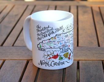 North Carolina Map Mug