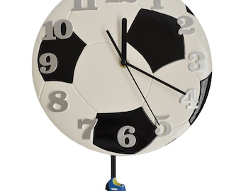 Pendulum Round Modern Wall Clocks Soccer Clock