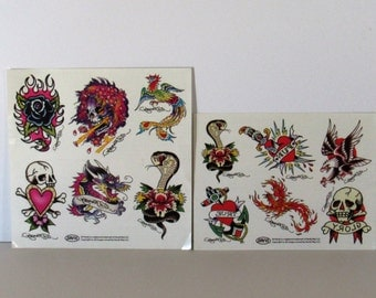 Ed Hardy Stickers/Tattoo's for Repurposing