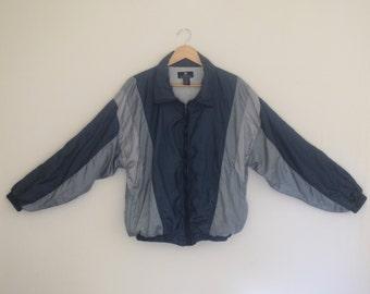 90s Givenchy Windbreaker/ 1990s Warm Up Jacket/ Designer Athletic Track Jacket/ Womens Size Large/ Men's Size Medium