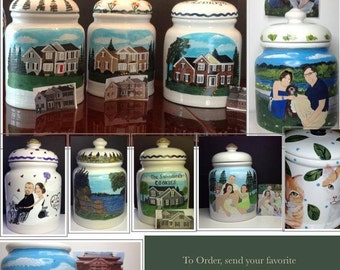 Custom Painted Cookie Jar