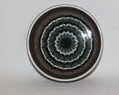 Hornsea Muramic dish, brown with white, green and black swirls, John Clappison, 1970s retro modern homewares decor