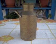 Vintage large brass jar, etched brass vase, solid brass, home decor, brass flower vase, indian embossed vase, brass collection, kitchen (43)