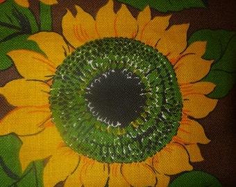 Wallhanging -  Tapestry -- Swedish design - Mid century - Sunflower - 60s - RETRO