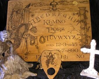 Memento Mori Victorian Mourning Spirit Board~Ouija Board