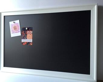 OVERSIZE framed magnetic chalkboard, magnet board, playroom decor, restaurant chalkboard, rustic wedding, office decor