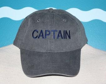 Custom Baseball Cap - Captain embroidered baseball cap - Great custom gift - baseball hat embroidered - Gift for Men - Summer Vactaion Hat