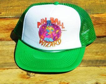 Vintage Pinball Wizard Elton John Mesh Snapback Hat