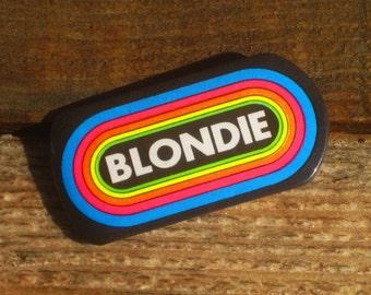 Vintage 80s KLOS 95.5 FM Blondie Pinback Button Debbie Harry