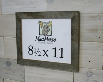 "8.5x11 BarnWood [Thin x 1.25""] Picture Frame"