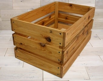 "Reclaimed Cedar Milk Crate 24"" x 16"" x 12"""