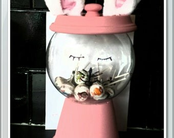 handmade easter faux gumball sweets holder jar