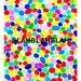 "Fine art print Mixed media art work ""BLAHBLAHBLAH"" by artist Ah-young Jeon. Fine art paper. Colorful art print"