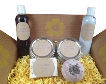 Destress Box Care Package - Pampering and Home Spa Products Feel-Good or Gratitude Gift