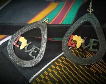 Love Africa Colors- Handmade Wooden Earrings