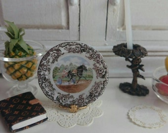 Harness Racing Horse  Plate for Dollhouse