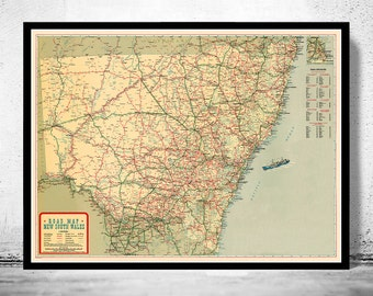 Old map of New South Wales Australia