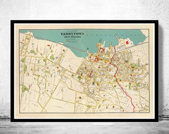 Old Map Tarrytown of New York 1893