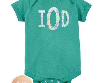 Fabric Monogram or Name Infant Onesie Bodysuit
