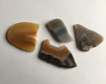 Brazilian Agate Slices/ Set of 4