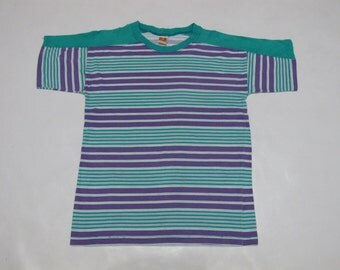 Vintage Hang Ten Made in USA Surf Skate Stripe T Shirt