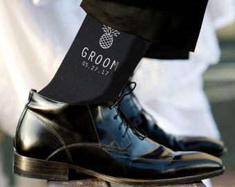 Father of the Groom Socks Personalized Custom Wedding Socks
