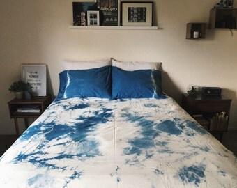 Shibori dyed duvet cover