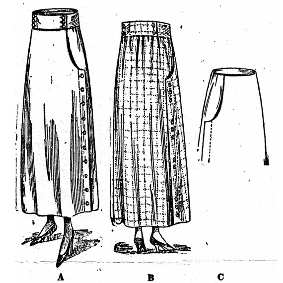 Victorian Skirts | Bustle, Walking, Edwardian Skirts 1915  Skirts $18.00 AT vintagedancer.com