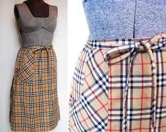 Pretty Plaid Wrap Skirt size medium