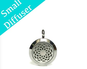 Memory Locket Diffuser Pendant, Small Silver Aroma Therapy Diffuser Locket, Personalized Essential Oil Floating Locket, Oil Pad Included.