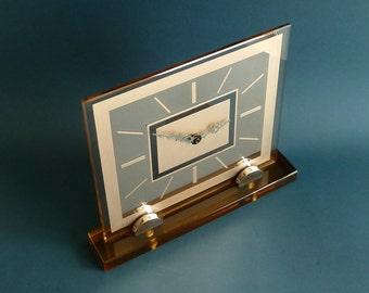 art deco glass clock